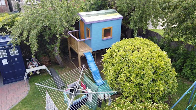The small playhouse, pictured here, has been booked for the week. (SWNS)