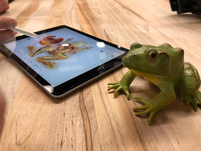 No frogs were harmed in during Apple's event.