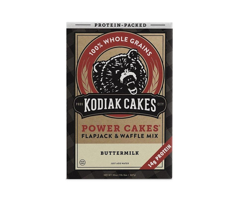 """<p><a class=""""link rapid-noclick-resp"""" href=""""https://www.target.com/p/kodiak-cakes-protein-packed-buttermilk-flapjack-waffle-mix-20oz/-/A-15332348"""" rel=""""nofollow noopener"""" target=""""_blank"""" data-ylk=""""slk:BUY NOW"""">BUY NOW</a> <strong><em>$6, target.com</em></strong><br></p><p>77 reviews. All 5 stars. Need more info?</p>"""