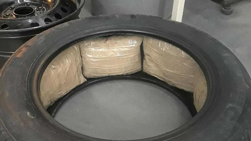 Ford Tire Packed With Meth