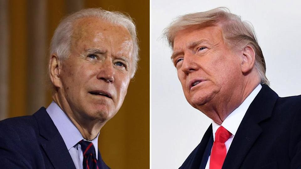 Biden and Trump composite