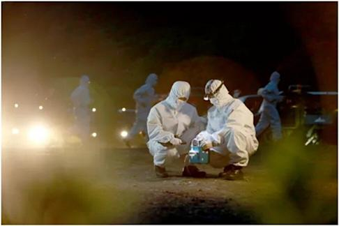 PLA Rocket Force soldiers deal with a nuclear incident drill at night. Since April, anti-CBRN exercises have become a major training focus in China's Western Theatre Command. Photo: PLA Rocket Force WeChat.