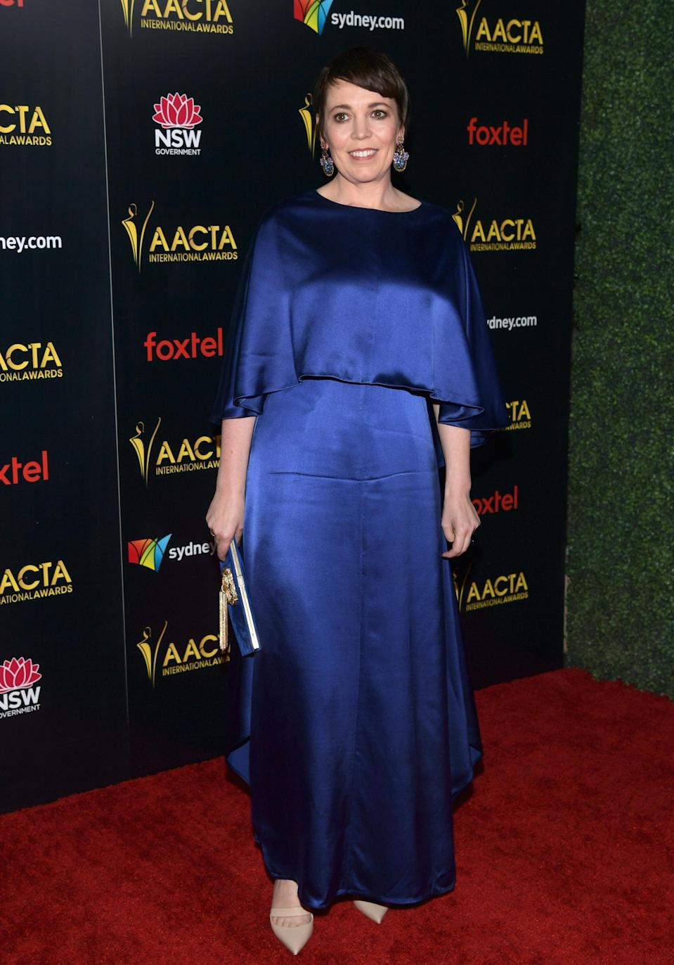 <p>British actress Olivia Colmen won the award for Best Lead Actress for her role in The Favourite. Photo: Getty </p>