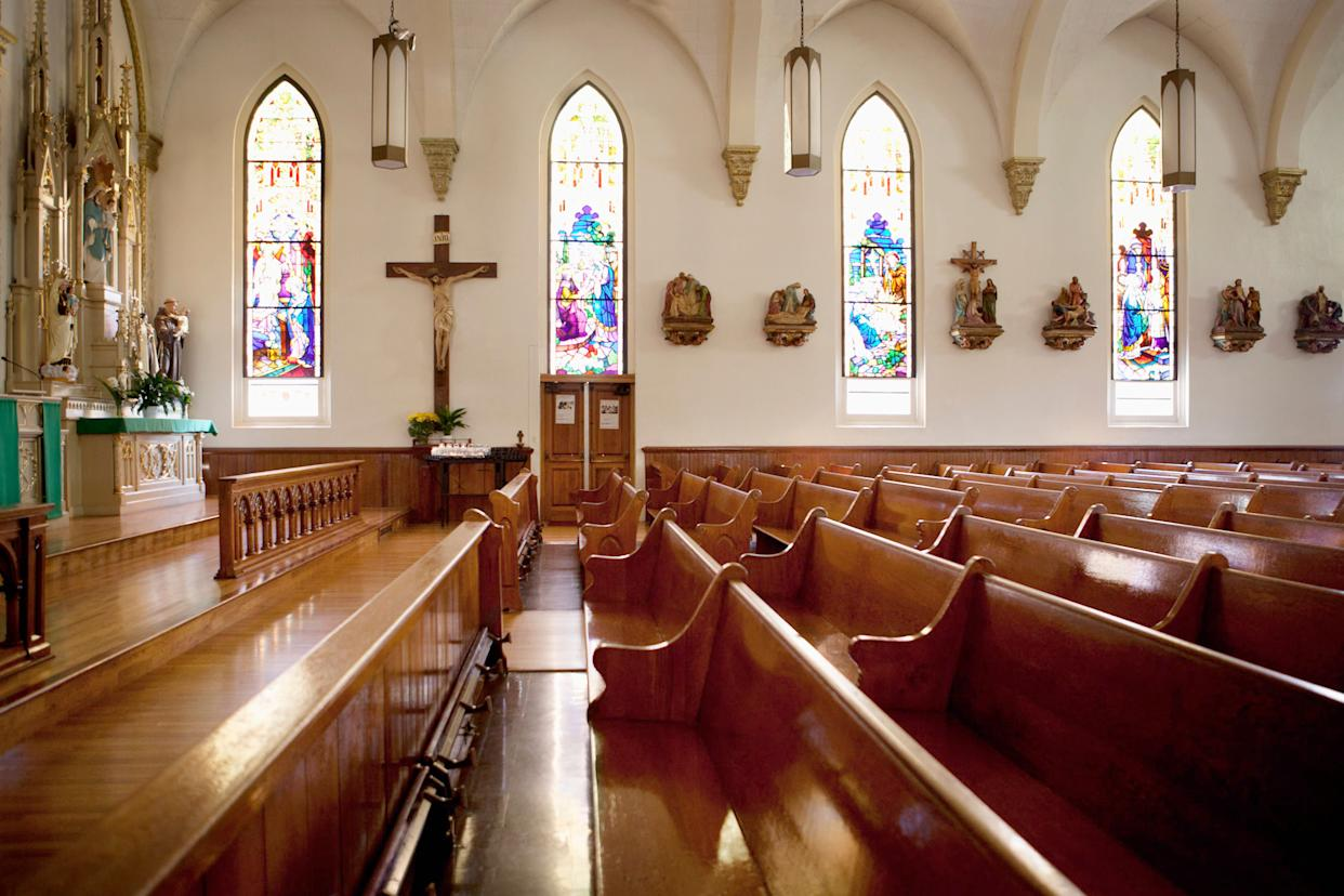 Only 39 percent of American Catholics say they attendchurch in any given week, according to a new Gallup report. (Photo: Monashee Frantz via Getty Images)