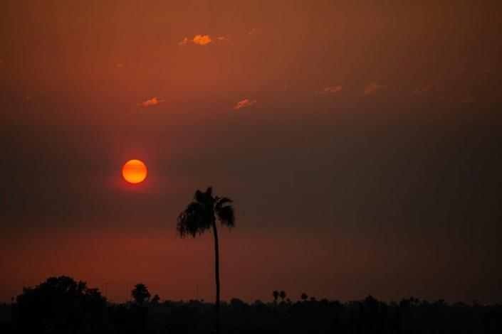 The temperature remained at 110 degrees Fahrenheit at sunset on June 15, 2021 in Phoenix, Arizona.The National Weather Service has issued an excessive heat warning for much of central Arizona, which is expected to remain in effect through the weekend. (Photo by Caitlin O'Hara/Getty Images)