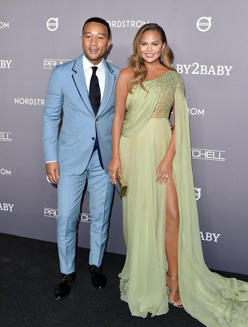 CULVER CITY, CALIFORNIA - NOVEMBER 09: John Legend and Chrissy Teigen attend the 2019 Baby2Baby Gala Presented By Paul Mitchell at 3LABS on November 09, 2019 in Culver City, California. (Photo by Axelle/Bauer-Griffin/FilmMagic)