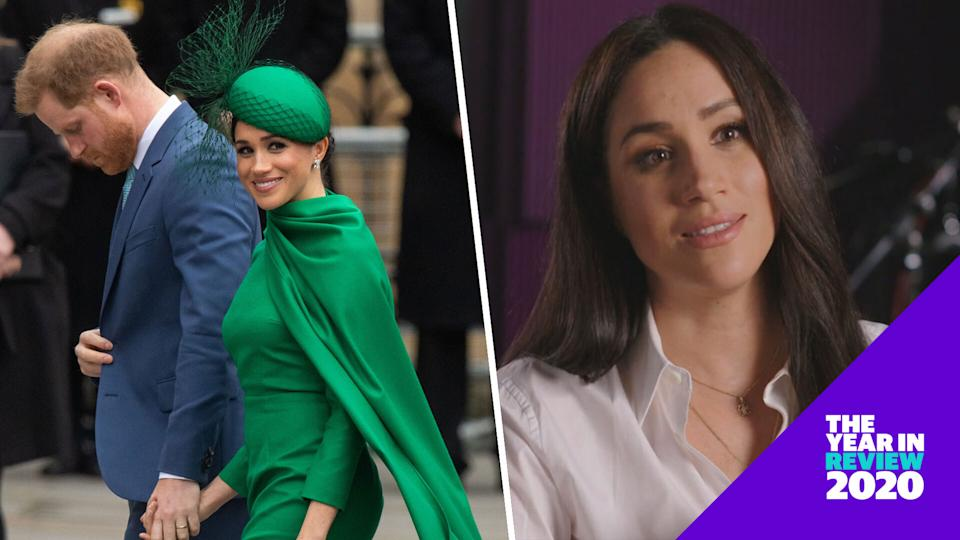 Meghan Markle's 2020 included a royal exit, a tragic loss and empowering new opportunities. (Photos: Getty Images)