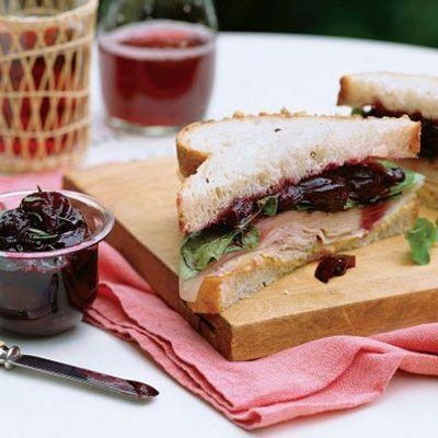 """<p>Cherries give this après-Thanksgiving classic a summery twist.</p><p>Get the recipe from <a href=""""https://www.delish.com/cooking/recipe-ideas/recipes/a20167/turkey-sandwich-cherry-compote-recipe-mslo1112/"""" rel=""""nofollow noopener"""" target=""""_blank"""" data-ylk=""""slk:Delish"""" class=""""link rapid-noclick-resp"""">Delish</a>.</p>"""