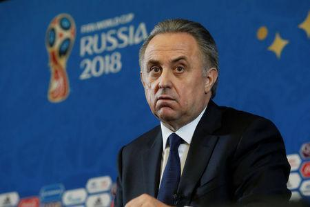 Soccer Football - 2018 FIFA World Cup Draw Press Conference - State Kremlin Palace, Moscow, Russia - December 1, 2017 Deputy Prime Minister of Russia Vitaly Mutko during the press conference REUTERS/Sergei Karpukhin