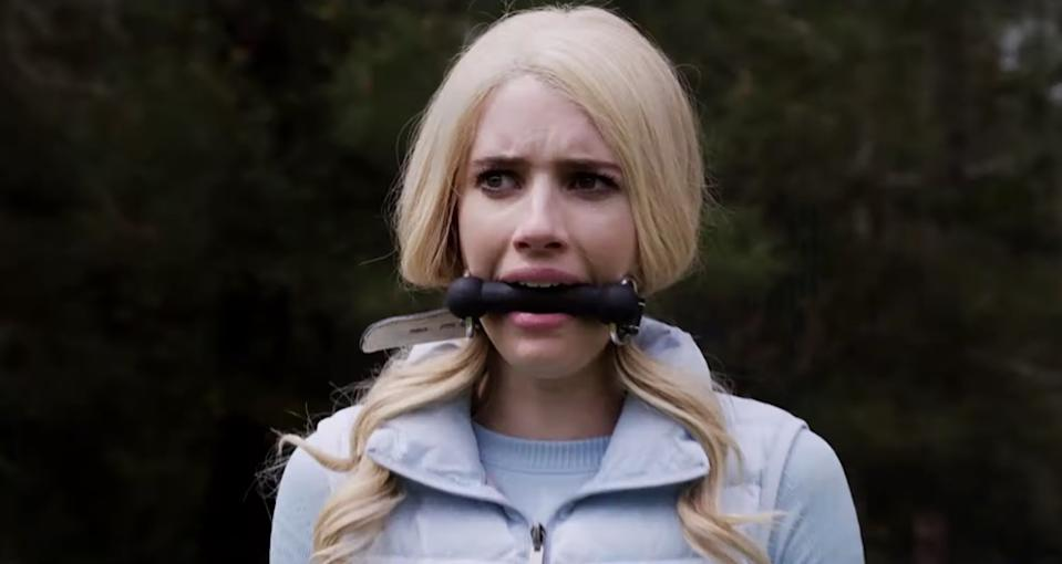 Emma Roberts in 'The Hunt.' (Photo: YouTube)