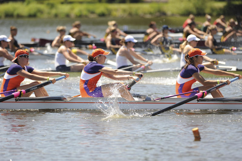31 MAY 2009: Clemson rowers break from the starting line during the Eights Grand Final at the NCAA Photos via Getty Images Division I Women's Rowing Championship held at the Cooper River in Camden, NJ. Clemson finished 6th in the Eights Petite Final with a time of 6:32.25. Jeff Fusco/NCAA Photos via Getty Images