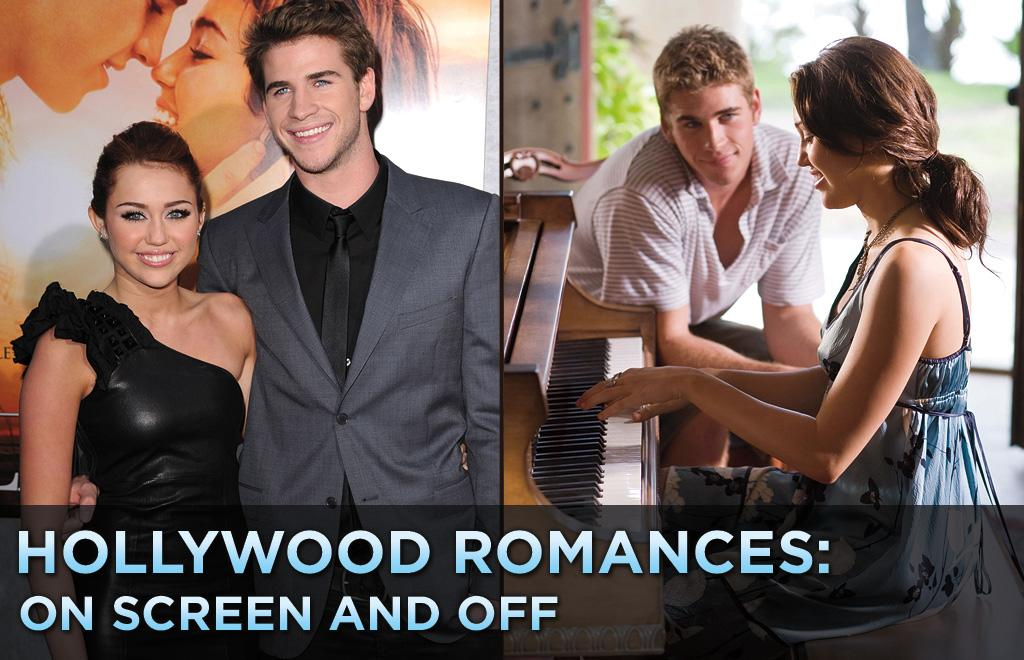 """After months of refusing to go on record about their relationship, <a href=""""http://movies.yahoo.com/movie/contributor/1809849015"""">Miley Cyrus</a> and <a href=""""http://movies.yahoo.com/movie/contributor/1810126236"""">Liam Hemsworth</a> made their first public appearance together on Thursday night at the Los Angeles premiere of their movie """"<a href=""""http://movies.yahoo.com/movie/1810098775/info"""">The Last Song</a>.""""   Miley has been <a href=""""http://movies.yahoo.com/news/usmovies.accesshollywood.com/miley-cyrus-reveals-how-liam-hemsworth-made-her-swoon-opening-door"""">opening up</a> about how she got together with her Australian costar, telling Ellen DeGeneres on her show that Hemsworth won her over with his manners when he opened the door for her at his audition.   The two say they've been together for 10 months now, which is nearly a lifetime as far as Hollywood romances go. Click ahead to see other star couples who teamed up in movies while they were together."""