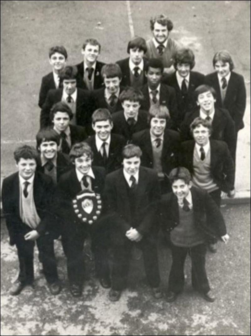 Teenager: Khalid Masood, then known as Adrian Ajao, in the centre of the second row of schoolboys from the top