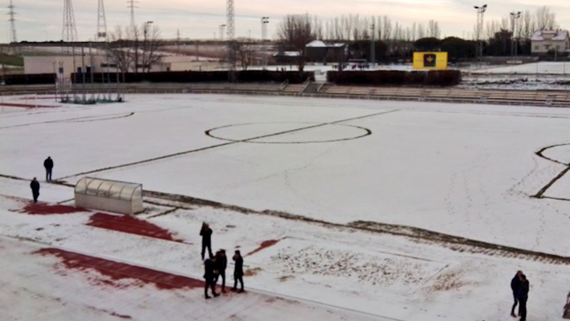 Las Pistas covered in snow ahead of Real Madrid visit
