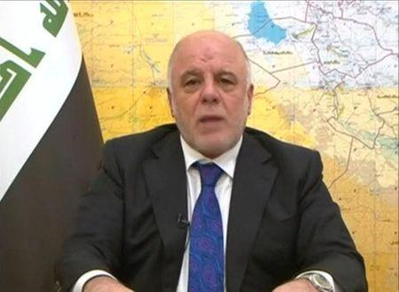 Iraq's Prime Minister Haider al-Abadi announces the start of an offensive to retake the western side of Mosul as troops begin to move towards Islamic State, in this still image from video by Iraqiya TV