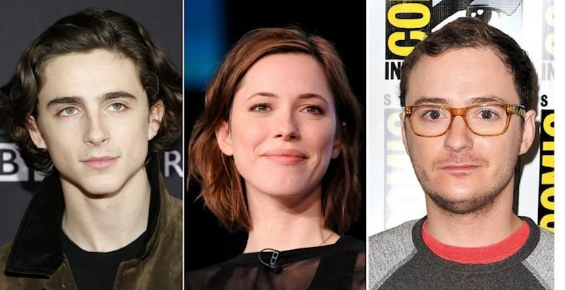 "Actors Timothée Chalamet (left), Rebecca Hall (center) and Griffin Newman (right) have all expressed regret over working with Woody Allen on his new film ""A Rainy Day in New York."" All three actors have said they will be donating their salaries from the film to charity."