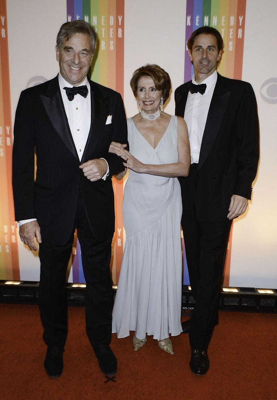<p>Nancy Pelosi with her husband Paul and son Paul Pelosi Jr. attending the 35th Kennedy Center Honors.</p>