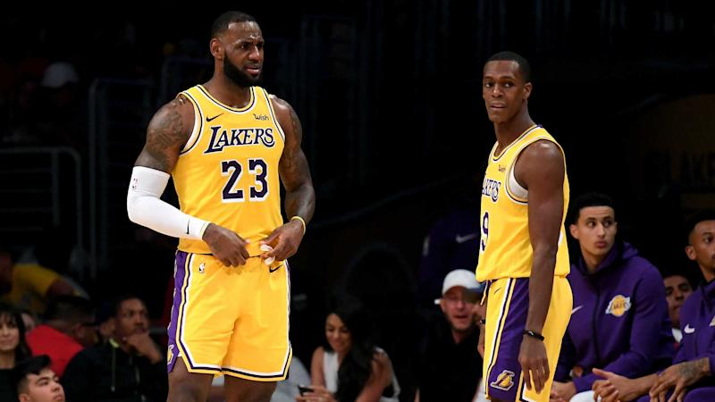 quality design c1f9f 65192 Rondo explains how Lakers were affected by Davis rumours ...