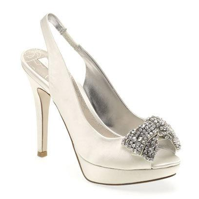 Ivory Glitzy Bow Sling Back Court Shoes Next: What To Wear: Wedding