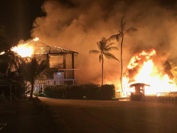 A fire in May burned part of Bungalows, a luxury, adults-only Key Largo resort that opened in December.