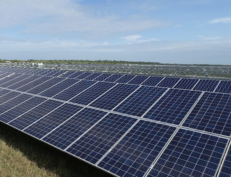 A key feature of Babcock Ranch, an eco-friendly city of the future in Florida, is the solar farm which provides enough to offset energy use of nearly 20,000 homes (AFP Photo/Kerry SHERIDAN)