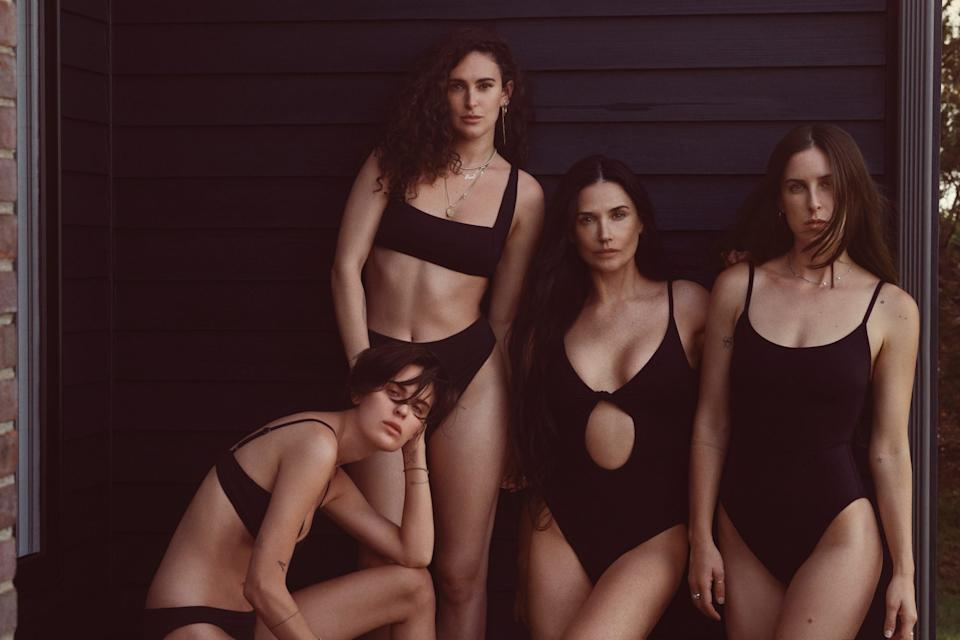 Demi Moore and her daughters model in a new swimwear campaign for Andie Swim (Image via Andie/Photo by Cass Bird)
