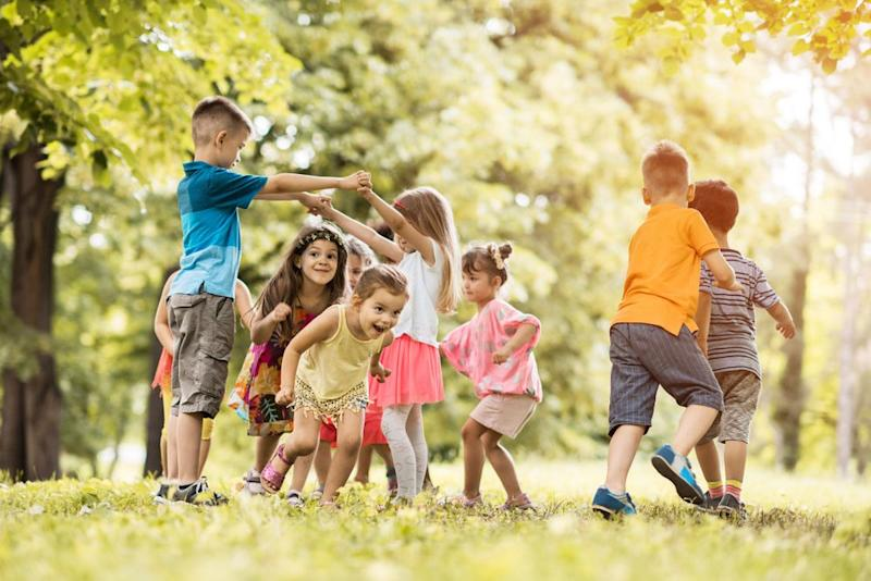 Kids playing outdoors   Getty