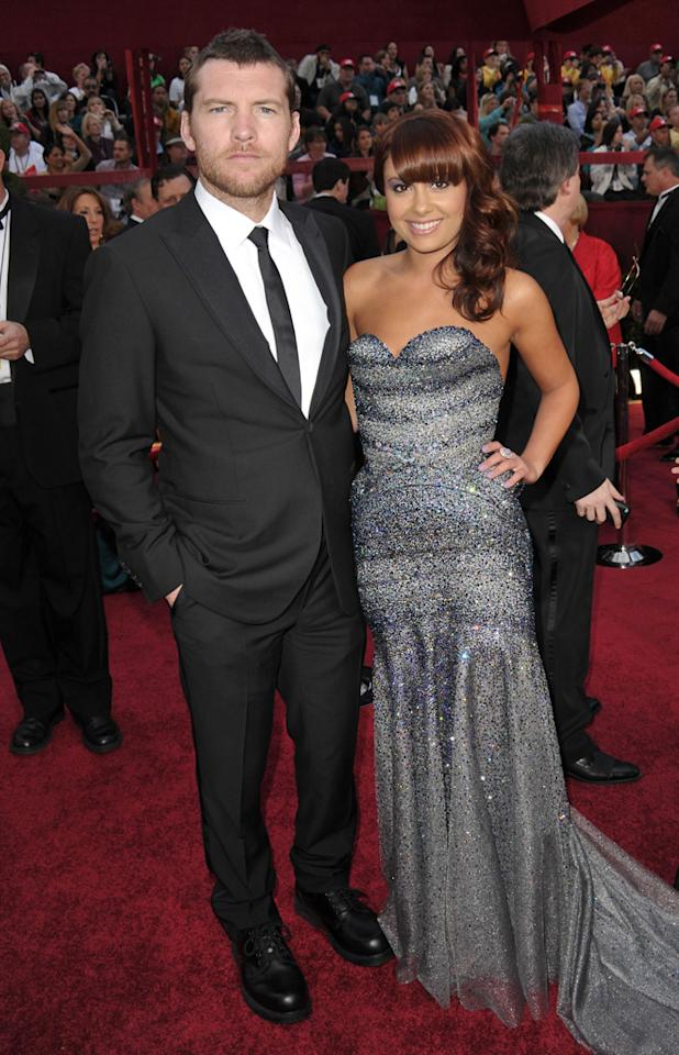 Sam Worthington and guest arrive at the 82nd Annual Academy Awards held at Kodak Theatre on March 7, 2010 in Hollywood, California.