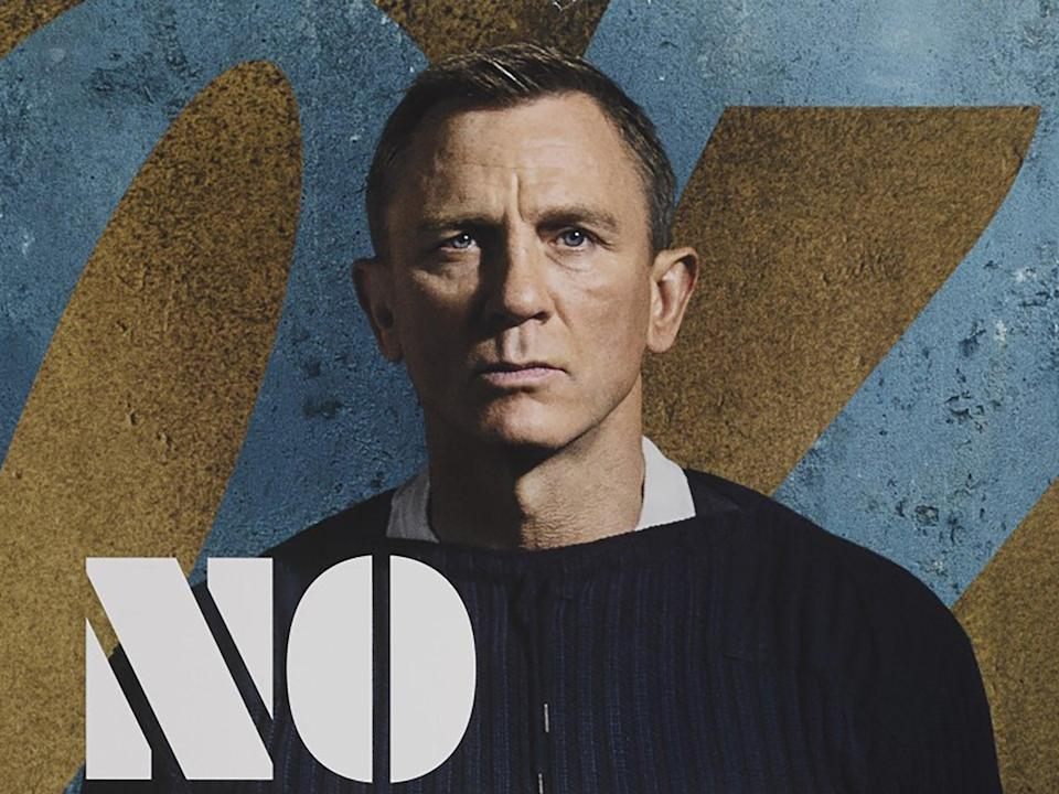 Daniel Craig as 007 in the poster for his final Bond film, No Time to Die (MGM/EON)