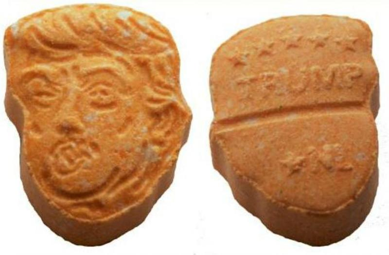 German police seize 5000 Trump-shaped ecstasy pills