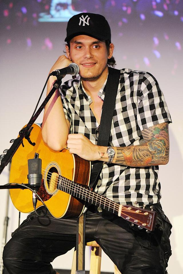"""October 16: John Mayer turns 33 Larry Marano/<a href=""""http://www.gettyimages.com/"""" target=""""new"""">GettyImages.com</a> - September 11, 2010"""