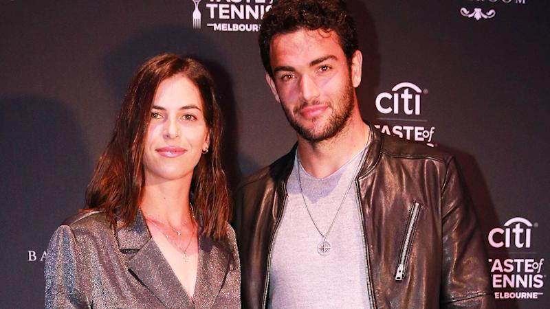 Ajla Tomljanovic and Matteo Berrettini attend the Citi Taste of Tennis event. (Photo by Wayne Taylor/Getty Images for Citi)