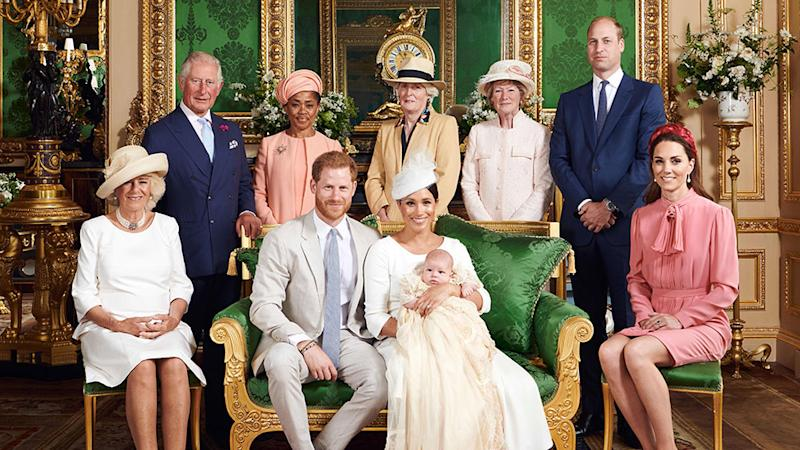 Meghan Markle pictured at Archie's christening