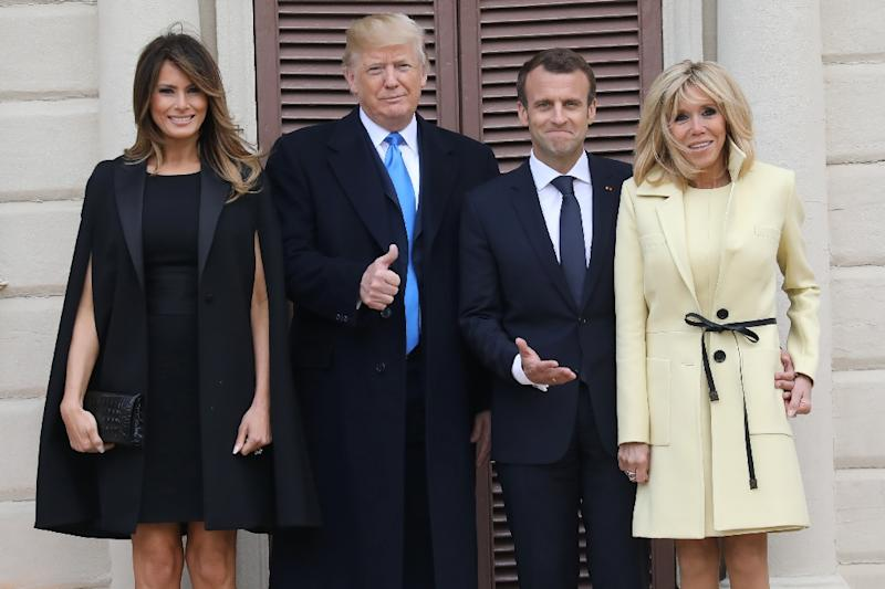 US President Donald Trump and French President Emmanuel Macron are to meet face to face for half an hour, and then again for an hour in a broader meeting with more aides (AFP Photo/Ludovic MARIN)