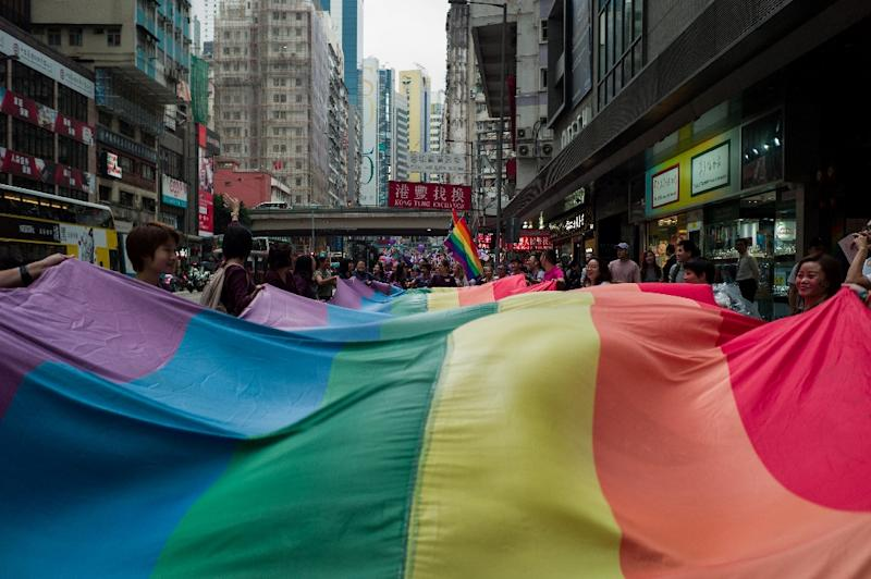 Campaigners have criticised Hong Kong for lagging behind on equality issues