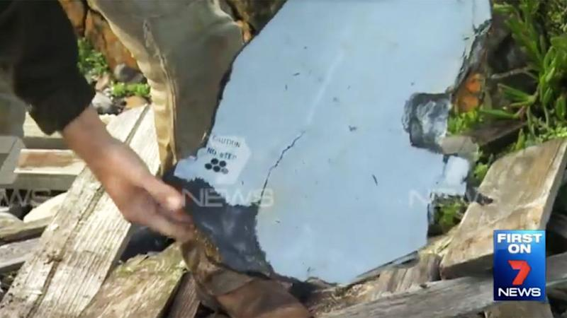 Aviation authorities are preparing to launch an investigation into what appears to be a plane wing. Photo: 7 News