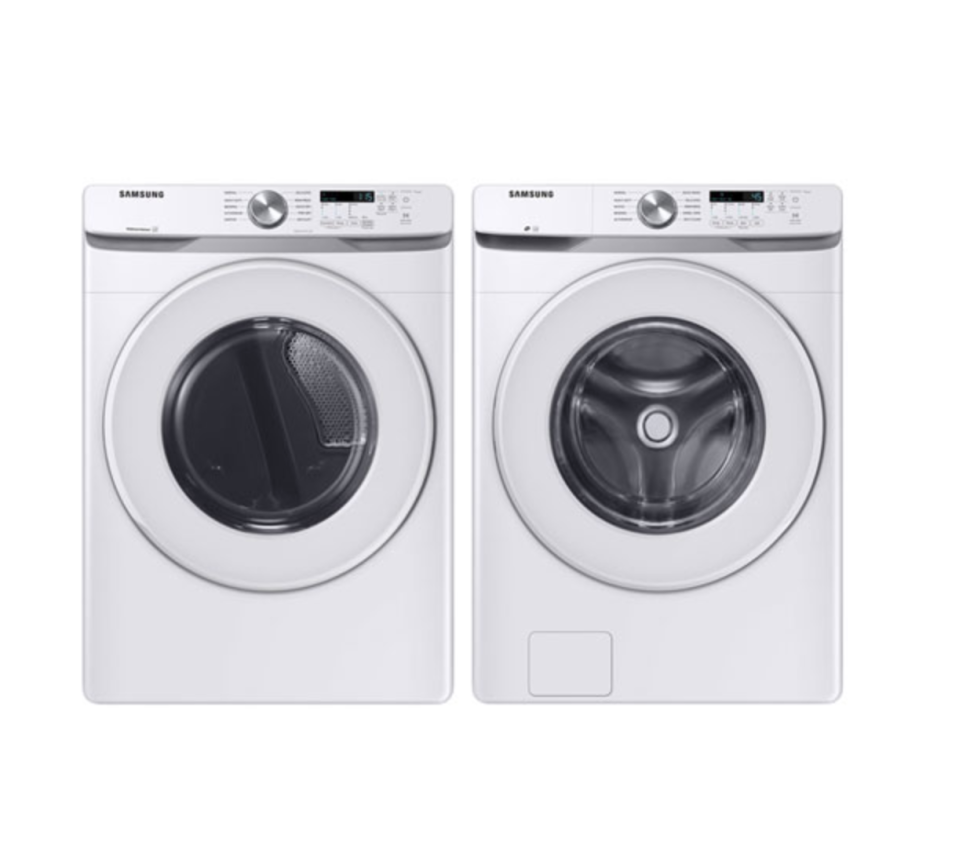 Samsung 5.2 Cu. Ft. High Efficiency Front Load Washer & 7.5 Cu. Ft. Electric Dryer  - $1,500 (originally $1,600)