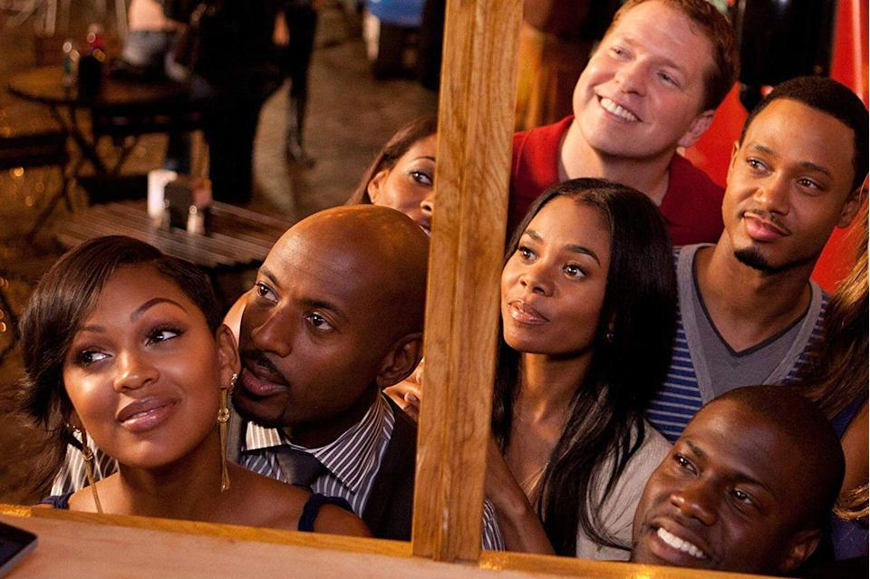 "<p><strong>Cast: </strong>Kevin Hart, Michael Ealy, Regina Hall, Taraji P. Henson, Meagan Good, Gabrielle Union, Terrence J., Romany Malco, Lala Anthony, Gary Owen<br></p><p>After a group of friends' discover that the ladies in their life have been reading <a href=""https://www.amazon.com/Act-Like-Lady-Think-Relationships/dp/0061728985?tag=syn-yahoo-20&ascsubtag=%5Bartid%7C10072.g.28122982%5Bsrc%7Cyahoo-us"" rel=""nofollow noopener"" target=""_blank"" data-ylk=""slk:Steve Harvey's book,"" class=""link rapid-noclick-resp"">Steve Harvey's book, </a><em><a href=""https://www.amazon.com/Act-Like-Lady-Think-Relationships/dp/0061728985?tag=syn-yahoo-20&ascsubtag=%5Bartid%7C10072.g.28122982%5Bsrc%7Cyahoo-us"" rel=""nofollow noopener"" target=""_blank"" data-ylk=""slk:Think Like a Man"" class=""link rapid-noclick-resp"">Think Like a Man</a></em>, for relationship advice, the men decide to also use the book's lessons to gain the upper hand.</p><p><a class=""link rapid-noclick-resp"" href=""https://www.amazon.com/gp/video/detail/B0091XLZY2/ref=atv_dl_rdr?tag=syn-yahoo-20&ascsubtag=%5Bartid%7C10072.g.28122982%5Bsrc%7Cyahoo-us"" rel=""nofollow noopener"" target=""_blank"" data-ylk=""slk:Shop Now"">Shop Now</a></p>"