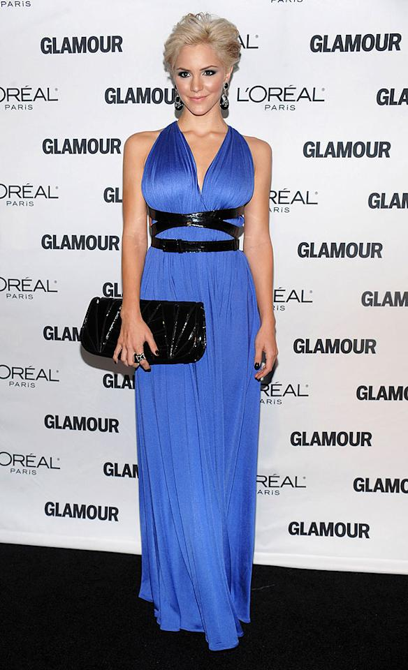 "We still can't get used to Katharine McPhee's blond locks, but they certainly make a statement when you pair them with a bold blue gown like this one. Dimitrios Kambouris/<a href=""http://www.wireimage.com"" target=""new"">WireImage.com</a> - November 9, 2009"