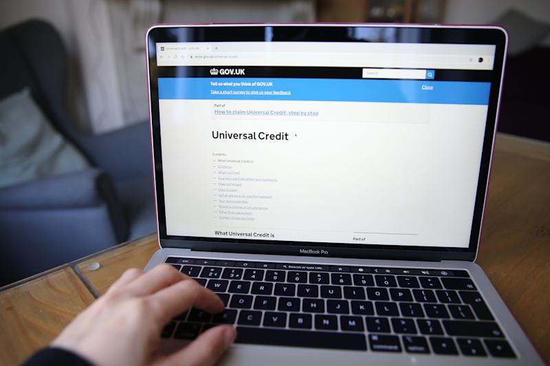 A person visits the Government Gateway website to apply for Universal Credit online. Picture date: Friday March 27, 2020. Photo credit should read: Isabel Infantes/EMPICS Entertainment (Photo: EMPICS Entertainment)