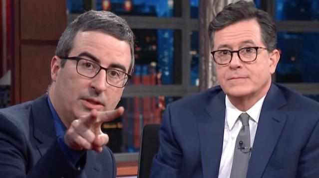 Colbert And Oliver Have A Message For Trump