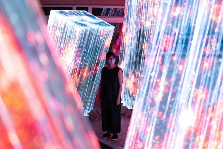 The show in the mountains of Kyushu in southern Japan is the latest offering from art collective teamLab