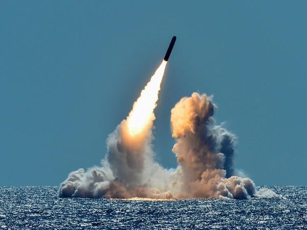 An unarmed Trident II D5 missile is test-launched from the Ohio-class U.S. Navy ballistic missile submarine USS Nebraska off the coast of California. (Photo credit: Reuters)