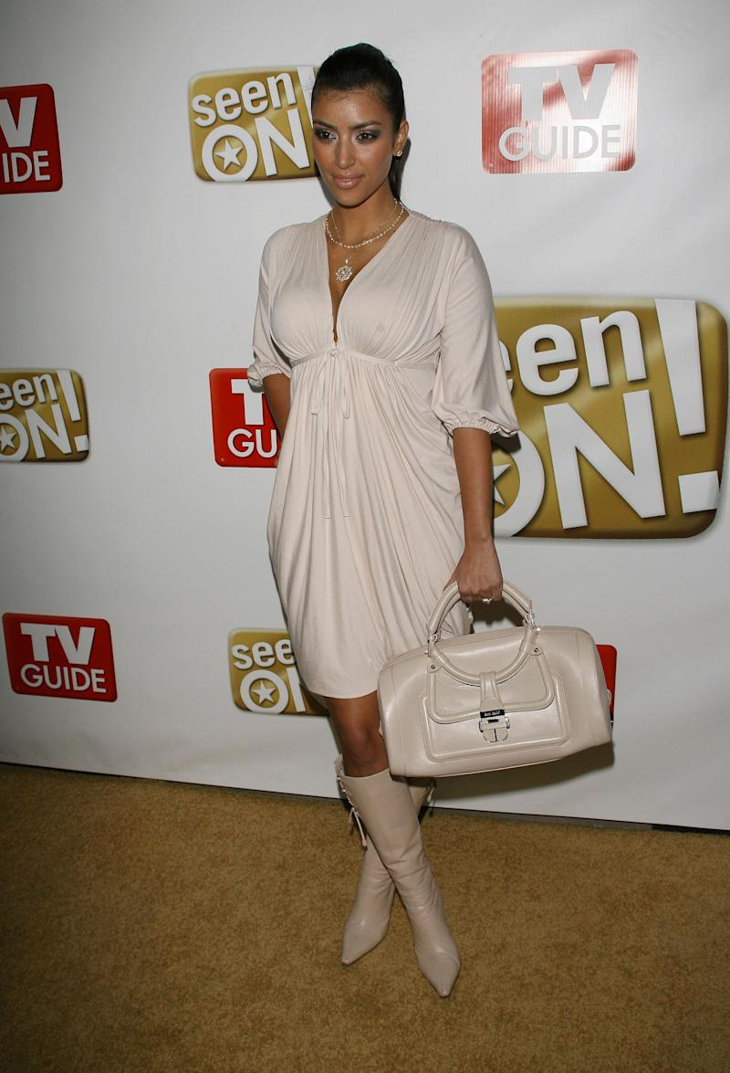 Kim Kardashian during The SeenOn.Com Launch Party - Arrivals at Boulevard3 in Hollywood, California, United States. (Photo by Michael Tran/FilmMagic)
