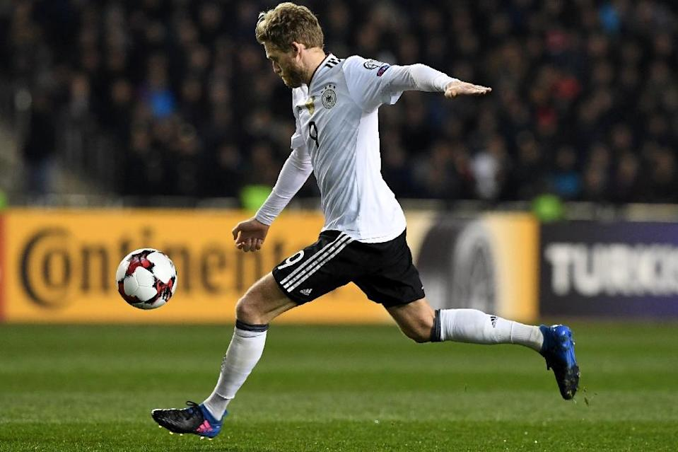 Andre Schuerrle supplied the cross which Mario Goetze converted for Germany's winning goal in the 2014 World Cup final (AFP Photo/Kirill KUDRYAVTSEV)