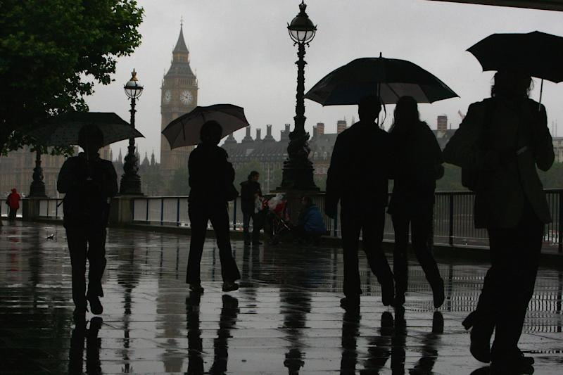 The weekend is set to start with rain lasting most of the day in the capital: Getty Images