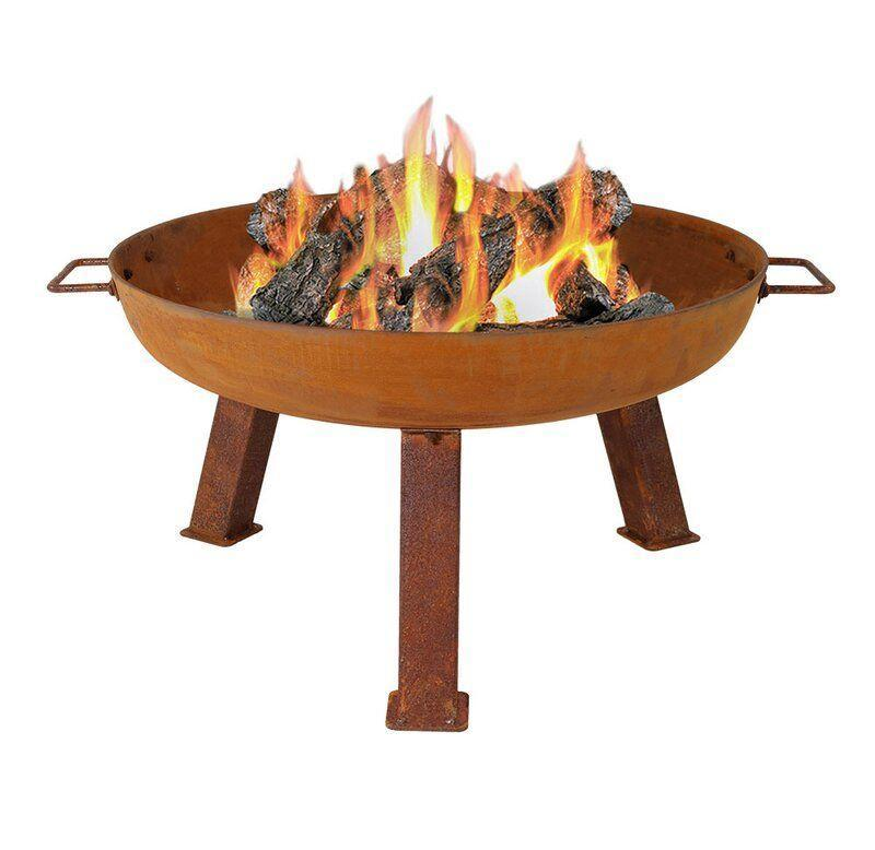 """<p><strong>Williston Forge</strong></p><p>wayfair.com</p><p><strong>$219.00</strong></p><p><a href=""""https://go.redirectingat.com?id=74968X1596630&url=https%3A%2F%2Fwww.wayfair.com%2Foutdoor%2Fpdp%2Fwilliston-forge-tidworth-bowl-cast-iron-wood-burning-fire-pit-w005483574.html&sref=https%3A%2F%2Fwww.countryliving.com%2Fshopping%2Fg37026239%2Fbest-outdoor-fire-pits%2F"""" rel=""""nofollow noopener"""" target=""""_blank"""" data-ylk=""""slk:Shop Now"""" class=""""link rapid-noclick-resp"""">Shop Now</a></p><p>This sturdy cast iron wood-burning fire pit provides rustic charm that works equally well in your backyard or at the cabin. It's available in three different sizes to suit your space.</p>"""
