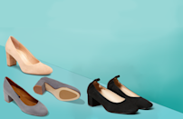 """<p>Heels are notorious for causing <a href=""""https://www.goodhousekeeping.com/health/a33284687/why-do-my-feet-hurt-foot-pain/"""" rel=""""nofollow noopener"""" target=""""_blank"""" data-ylk=""""slk:foot pain"""" class=""""link rapid-noclick-resp"""">foot pain</a>, but there's no need to suffer shoes that hurt in the name of fashion, thanks to plenty of comfortable (and good-looking!) styles on the market. Whether you regularly wear heels for work or just need them for a special occasion, it's important that your <a href=""""https://www.goodhousekeeping.com/clothing/g33264582/most-comfortable-shoes/"""" rel=""""nofollow noopener"""" target=""""_blank"""" data-ylk=""""slk:shoes feel comfortable"""" class=""""link rapid-noclick-resp"""">shoes feel comfortable</a> if you're going to be in them all day or night.</p><p>The <a href=""""https://www.goodhousekeeping.com/institute/about-the-institute/a19748212/good-housekeeping-institute-product-reviews/"""" rel=""""nofollow noopener"""" target=""""_blank"""" data-ylk=""""slk:Good Housekeeping Institute"""" class=""""link rapid-noclick-resp"""">Good Housekeeping Institute</a> Textiles Lab researched dozens of heels and reviewed them for comfort features, materials and overall appearance. We also spoke with <a href=""""https://torreshodgespodiatry.com/about-us.html"""" rel=""""nofollow noopener"""" target=""""_blank"""" data-ylk=""""slk:Dr. Grace Torres-Hodges"""" class=""""link rapid-noclick-resp"""">Dr. Grace Torres-Hodges</a>, a board-certified podiatrist and owner of Torres Hodges Podiatry, to find exactly what you should be looking for in comfortable heels. The picks ahead include something for every preference and occasion — but first, here's what you need to know when shopping for your best pair of heels.</p><h2 class=""""body-h2"""">What makes a comfort heel?</h2><p>Dr. Torres-Hodges recommends keeping the following in mind to prevent foot pain:</p><ul><li><strong>Don't go too high.</strong> The taller the heel, the more pressure you put on the ball of the foot. Dr. Torres-Hodges advises considering heels that are two inches or less to avo"""
