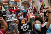 Protest following cancellation of decades-long pact between defense ministry and Philippines state university