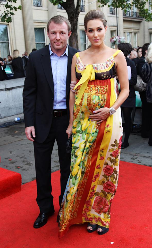 "Guy Richie and guest at the London world premiere of <a href=""http://movies.yahoo.com/movie/1810004624/info"">Harry Potter and the Deathly Hallows - Part 2</a> on July 7, 2011."